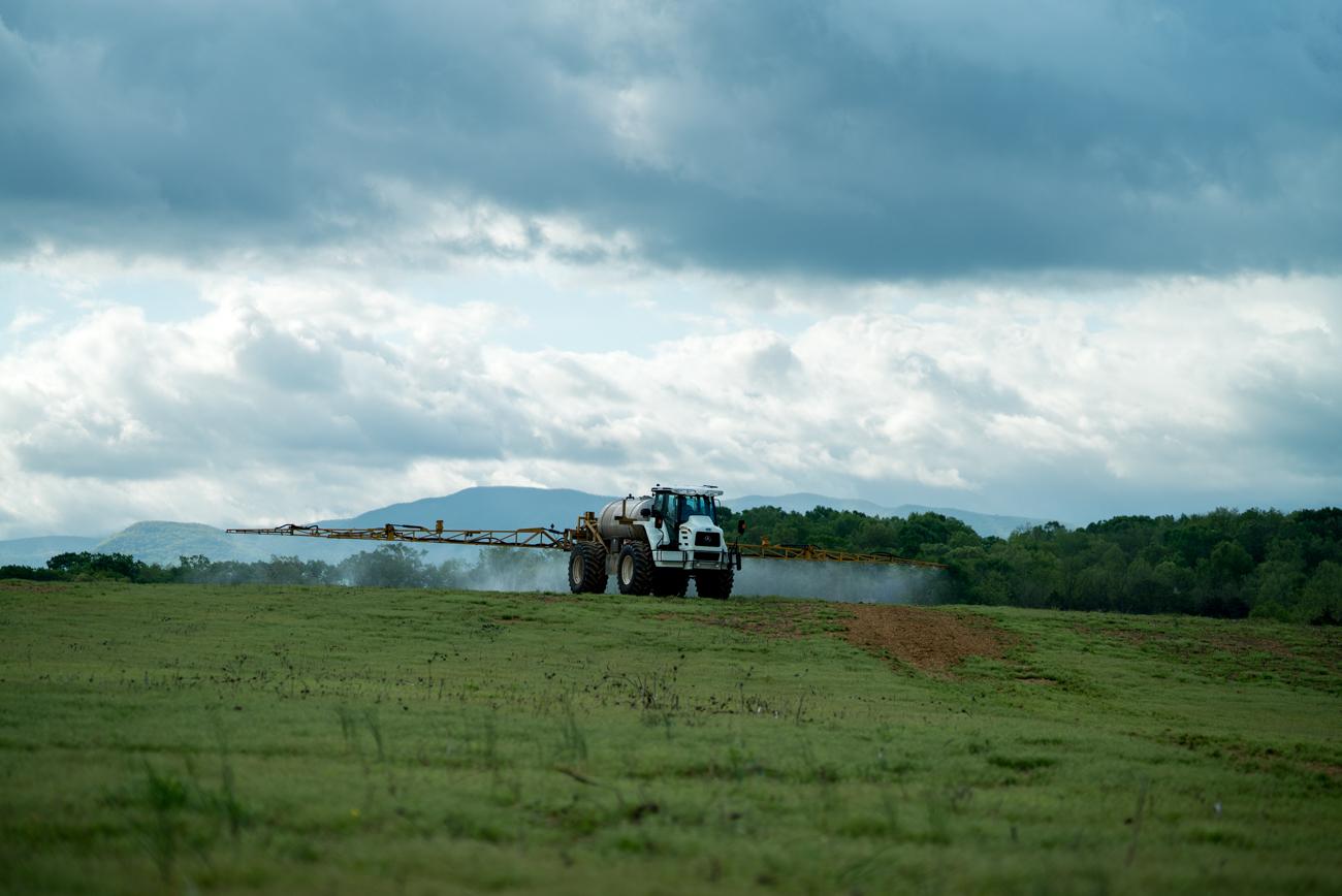 Agribusiness Spreading Fertilizer
