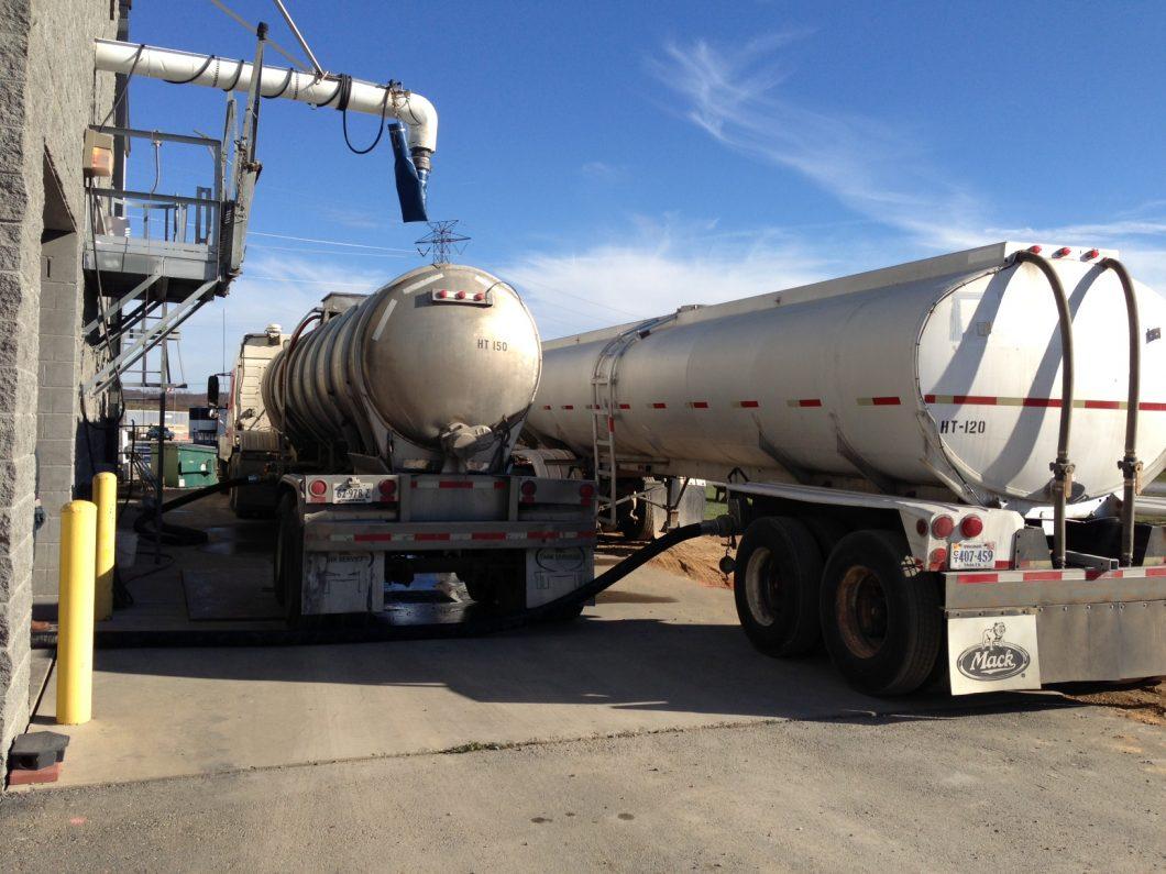 Trucks With Biosolids